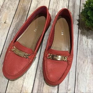 Coach Leather Loafers Flats Peach Coral Size 8B